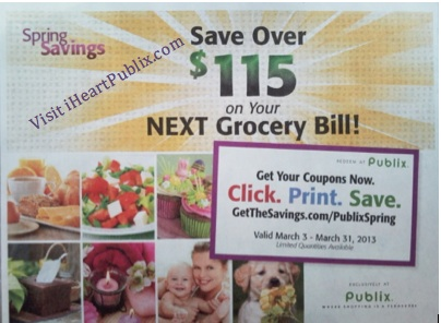 publix spring savings Spring Savings Booklet  Manufacturers & Publix Coupons Valid 3/3   3/31