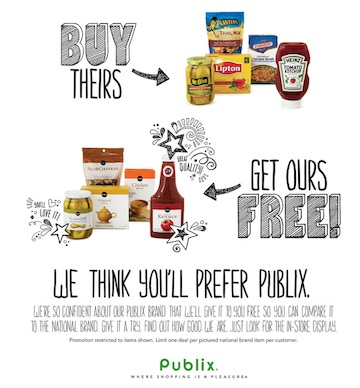 btgo publix Publix Buy Theirs Get Ours Free Promotion Starting 4/24 (4/24 For Some)