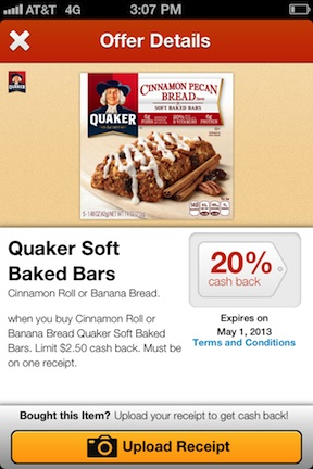 endorse quaker Endorse App   Earn More Cash Back On Your Publix Purchases