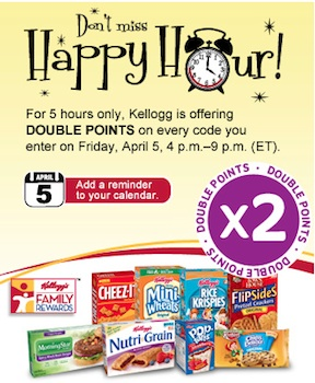 kelloggs double Kelloggs Family Rewards Double Points 4/5