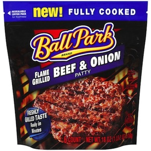 ball park patty beef onion copy Ball Park Beef Patties   Up To $4 Off A Bag At Publix