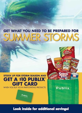 conagra summer storms publix Reminder   Summer Storm Booklet & $10 Publix Gift Card Rebate   Share Your Scenarios