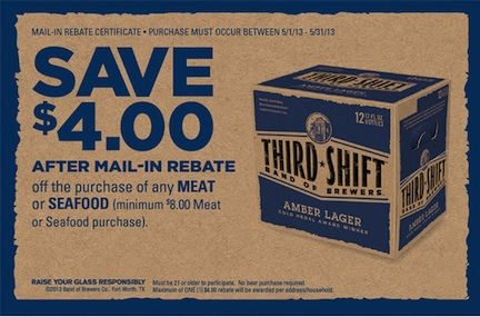 coupon thirdShift may.v 2 2 4552 0 copy $4 Meat Or Seafood Rebate   Awesome!