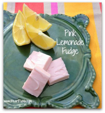pink lemonade fudge