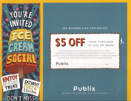 publix ic cream coupon Publix Coupon   $5 Savings For Some