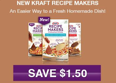 Kraft Recipe Makers High Value Kraft Recipe Makers Coupon + More Kraft Coupons