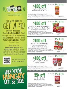 back to school coupons ConAgra Back To School Publix Gift Card Offer Is Back + A Giveaway (Grand Prize Is $250 Publix Gift Card!)