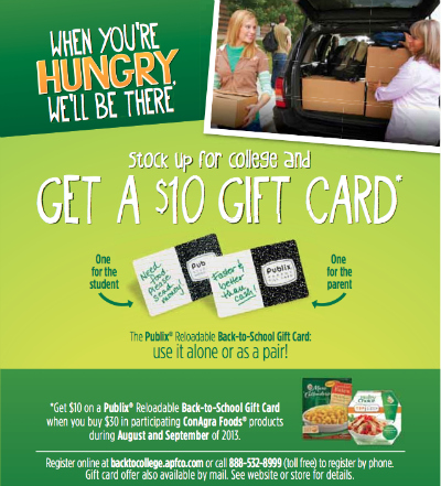 conagra college ConAgra Back To School Publix Gift Card Offer Is Back + A Giveaway (Grand Prize Is $250 Publix Gift Card!)