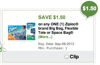 space bags publix Ziploc Space Bags Publix Digital Coupon Is Back!