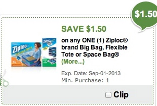 ziploc space publix1 Reminder   Load Your Ziploc Space Bags Coupon