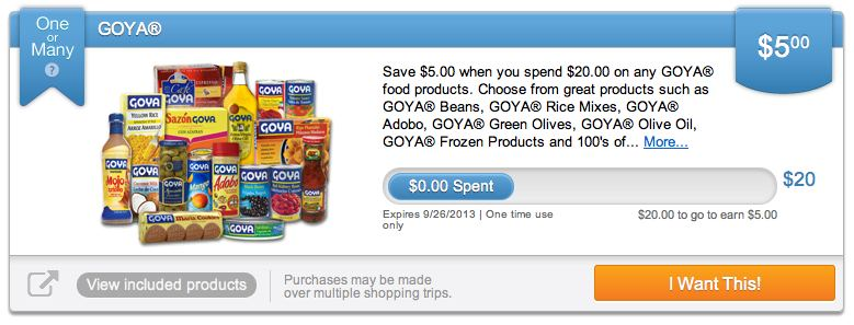 Goya Upromise1 Goya Pricing and Coupons For The Upromise One or Many Offer