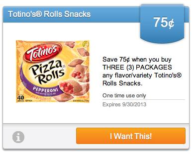 Totino New Upromise eCoupons For September