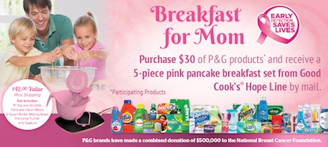pink cookware Publix Pink Cookware Promotion Is Back   2013 Breakfast For Mom From Good Cooks Hope Line