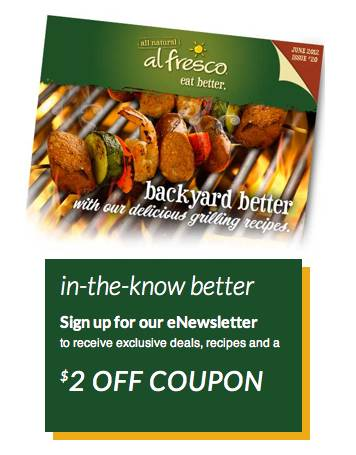 al fresco Possible $2 Al Fresco Chicken Sausage Coupon For Our Publix Sale