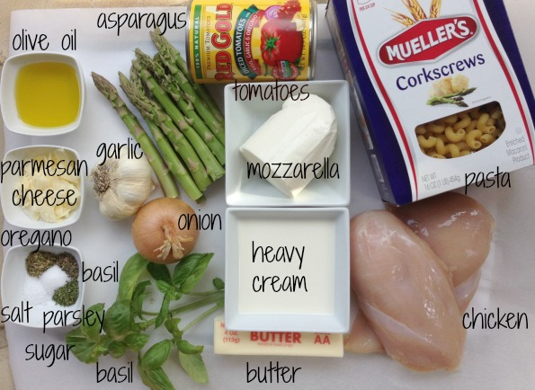 pasta ingredients Publix Super Meals    Creamy Caprese Pasta With Asparagus and Grilled Chicken