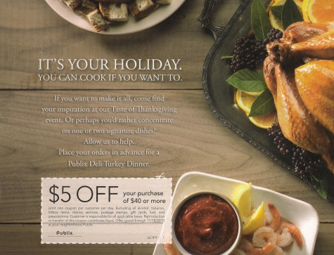 Publix Thanksgiving coupon Publix Coupon For Some   $5 Coupon On Thanksgiving Flyer