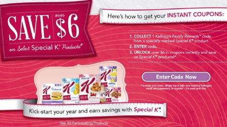 6 in special k coupons look for specially marked special k products. Black Bedroom Furniture Sets. Home Design Ideas