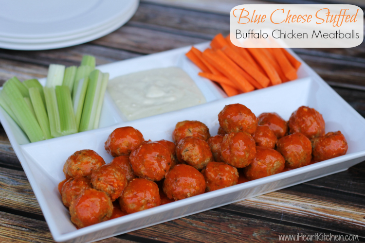 blue cheese stuffed buffalo chicken meatballs 1 Blue Cheese Stuffed Buffalo Chicken Meatballs   Publix Menu Plan Recipe