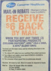 pfizer mir Coupons For New Pfizer Mail In Rebate