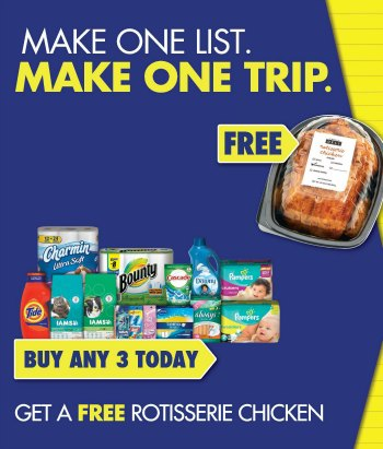 pg revised P&G Make One List Make One Trip Promotion Is Back   Free Rotisserie Chicken For Your Game Day Parties