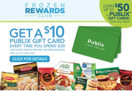 conagra frozen club Frozen Rewards Club   Have You Earned Your Publix Gift Card(s)?