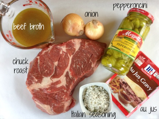 roast ingredients Slow Cooker Peperoncini Beef Sandwiches   Publix Super Meal