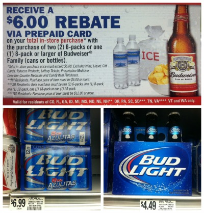 budweiser mir Beer Mail In Rebates Spotted
