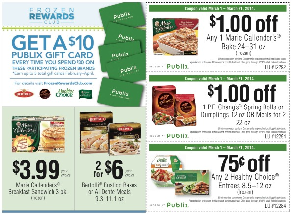 conagra coop Deal Roundup For the Frozen Rewards Club (Earn A $10 Publix Gift Card!)