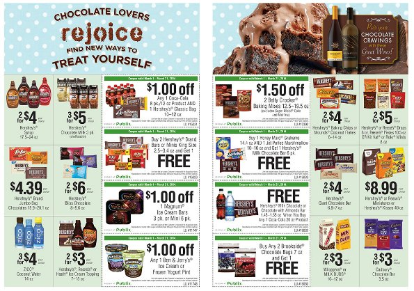 march1 hersheys small Fantastic Deals At Publix   Hersheys Chocolate Lovers Sale