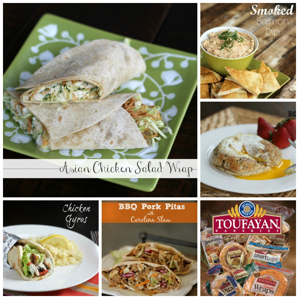toufayan collage Asian Chicken Salad Wrap + Toufayan Recipe Challenge (One Reader Wins $100 Publix Gift Card!)