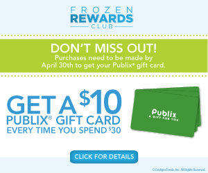19097 4cagr pub FrznRewards Banner Time Is Running Out   Earn Your Publix Gift Card(s) In The Frozen Rewards Club