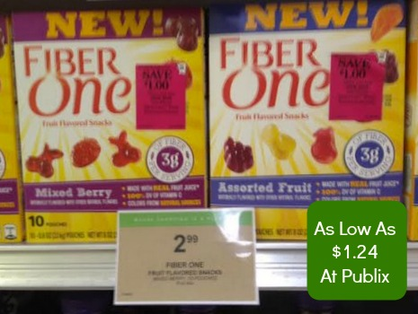Fiber One Fiber One Fruit Snacks   Nice Deal At Publix