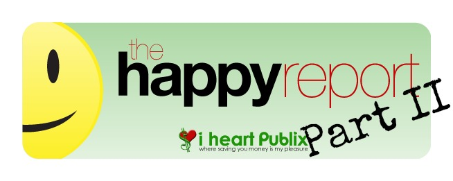 Publix Happy Report part2 Even More Unadvertised Publix Deals   The Happy Report Part II