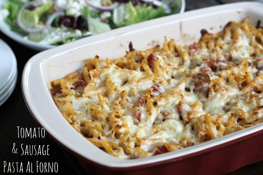 Tomato-Sausage-Pasta-Al-Forno