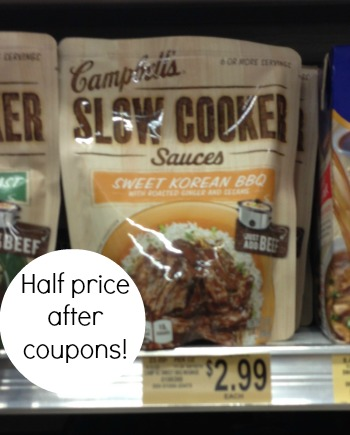 campbells slow cooker New Campbells Slow Cooker Sauce Coupon To Pair With Publix Coupon