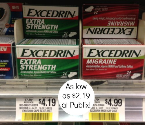 excedrin coupon publix High Value Excedrin Coupon   $2 Off Any Size!