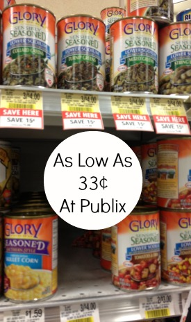 glory Glory Canned Vegetables Coupon And Publix Deals
