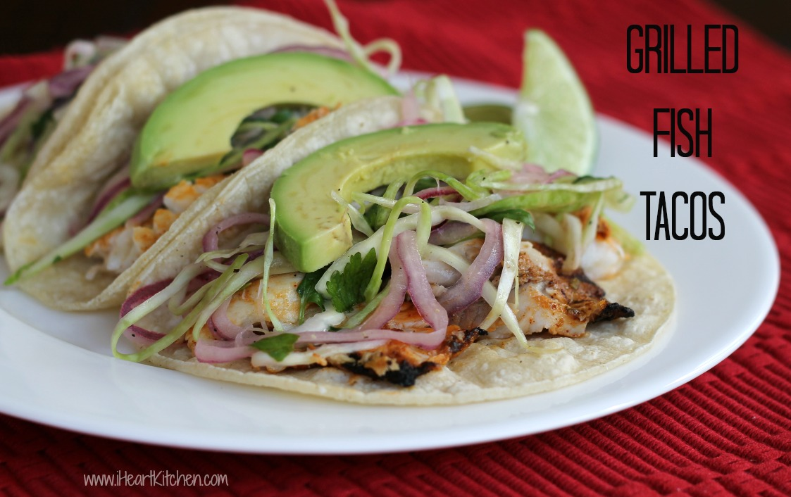 grilled fish tacos 2 Simple Grilled Fish Tacos
