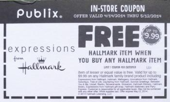 Bogo Publix Hallmark Coupon Valid Through 5 12