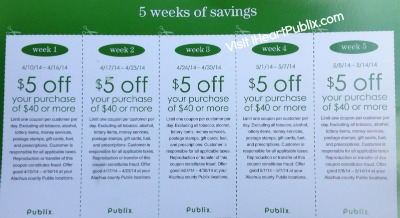 mailer Publix Mailer With Nice $5/$40 Coupons