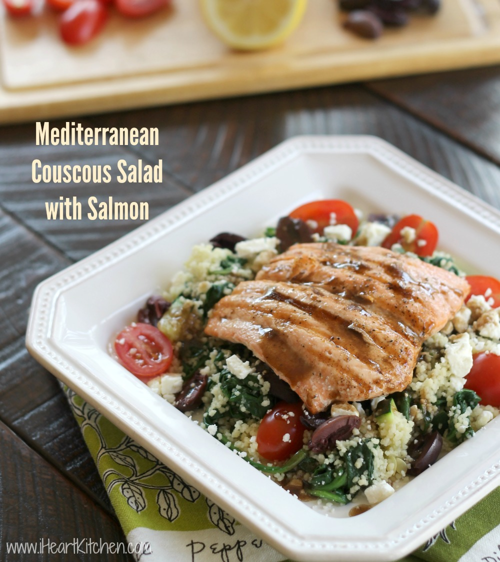 mediterranean couscous salad salmon Mediterranean Couscous Salad With Salmon