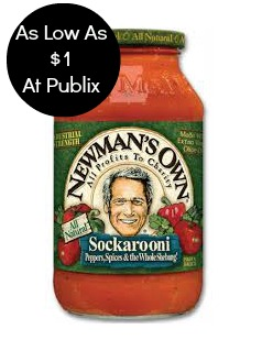 newman1 Newmans Own Pasta Sauce As Low As $1 At Publix