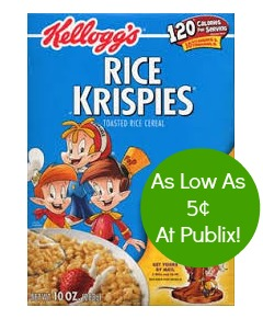 rice krispies New Coupon For Our Publix BOGO Sale   Cheap Rice Krispies And Milk