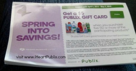 spring savings New Publix Coupon For Colgate Palmolive Products   Get $5 Publix Gift Card