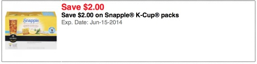 brew over ice k cups publix Grab Your Big $2 Snapple® K Cup® Packs Coupon