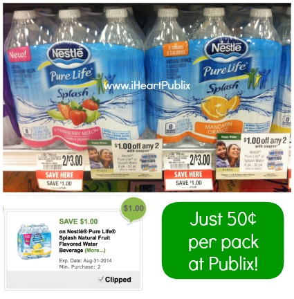 Awesome Publix Deals On Bottled Water (As Low As 50¢ Per 6 Pack!)