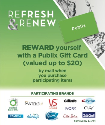 refresh renew publix1 Fabulous P&G Refresh & Renew Rebate + Free Chicken Scenario   Share Yours!