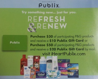 refresh renew Savings At Publix   Colgate/Palmolive Gift Card & Refresh Renew Rebate