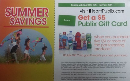 summer savings IHP Savings At Publix   Colgate/Palmolive Gift Card & Refresh Renew Rebate