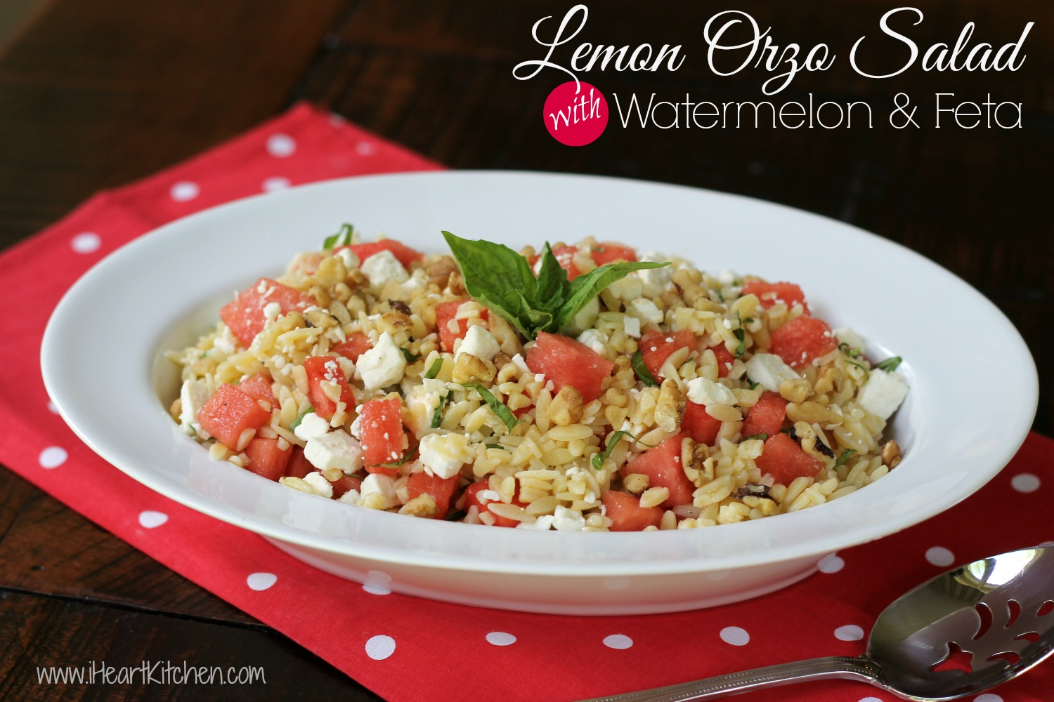Lemon Orzo Salad with Watermelon and Feta Lemon Orzo Salad with Watermelon & Feta   Publix Menu Plan Recipe
